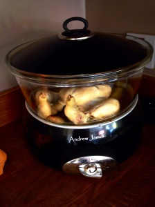 Slow cooker Rosemary garlic chicken