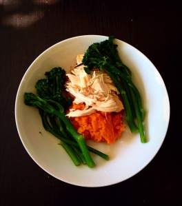 Rosemary garlic chicken sweet potato broccoli
