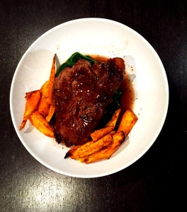 Fillet steak chilli sweet potatoes